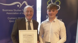 Leaving Certificate 2019 – Gold Medal for Business Studies