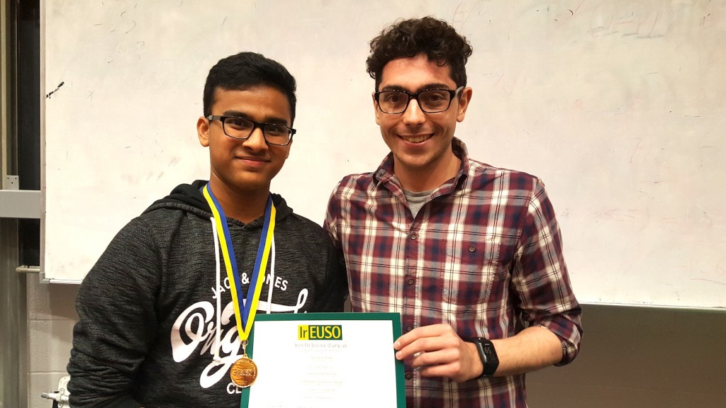 Keshav with the Biology mentor from the IrEUSO.